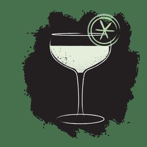Illustration of classic daquiri cocktail