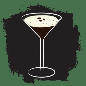 Illustration of espresso martini cocktail