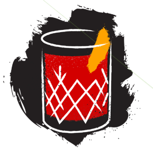 illustration of negroni cocktail