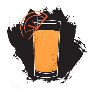 Illustration of paloma cocktail