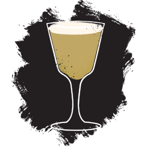 Illustration of sherry flip cocktail