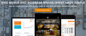 Homepage of Uncorkd a digital menu provider for bars and restaurant beverage programs
