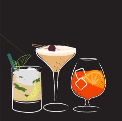 Illustration of essential cocktails for the modern bartender-1