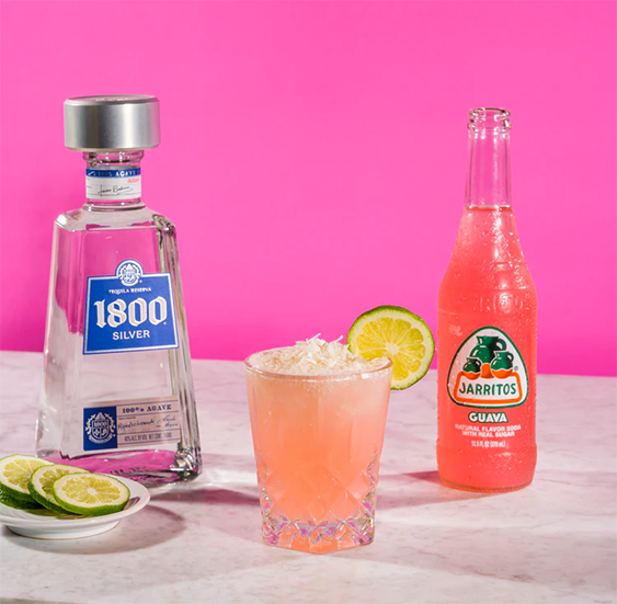 Image of 1800 Blanco Tequila and Jarritos Grapefruit with a Paloma Cocktail